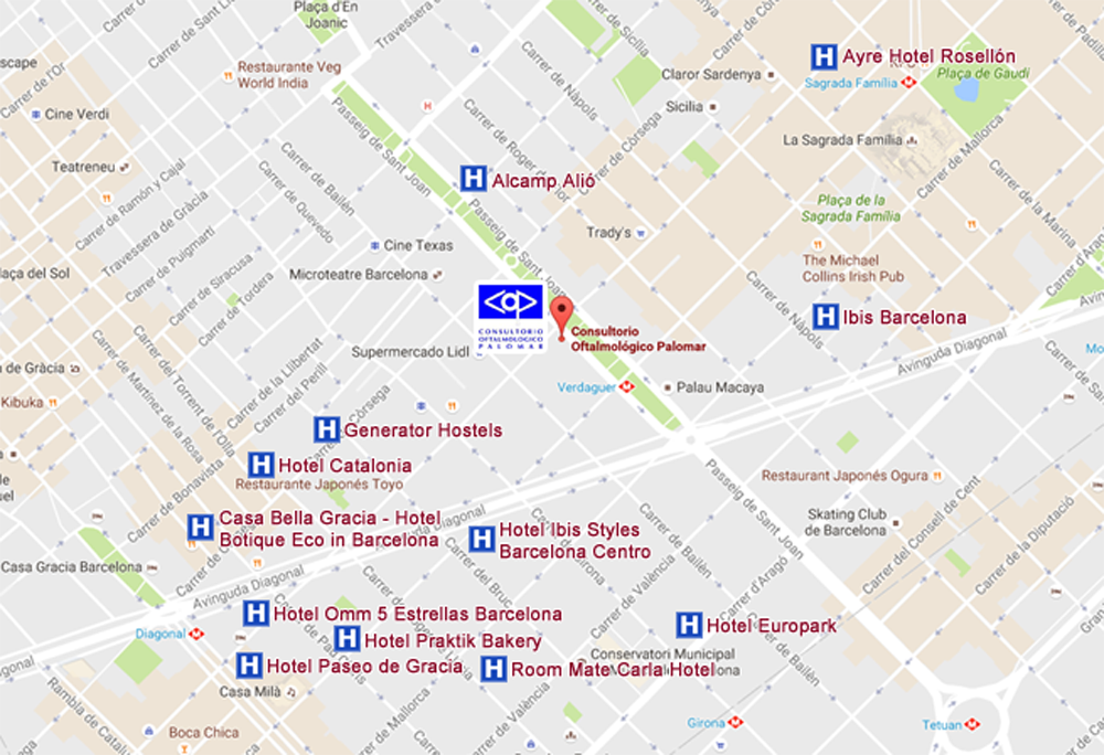 For Foreing Patients Or From Outside Of Barcelona We Indicate Some The Nearby Hotels As Well Offer Agreed With Them To Facilitate